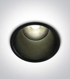 Faretto LED da Incasso recesso Nero - 10W - Bianco Caldo 3000K