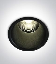Faretto LED da Incasso recesso Nero - 15W - Bianco Caldo 3000K