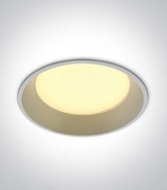 Faretto LED da Incasso recesso Bianco - 22W - Bianco Caldo 3000K