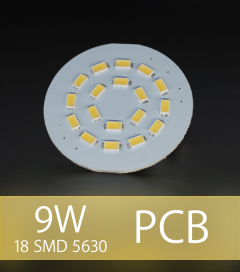 Scheda PCB 18 LED SMD 5630 SAMSUNG - Bianco Caldo