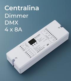 Centralina DMX 4 CANALI x 8A