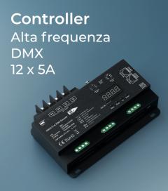 Centralina DMX 12 CANALI x 5A alta frequenza