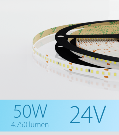 "Striscia LED 2216 ""PRO"" - 24V - 5 Metri - 50W - SMD2216 280 LED/m - Bianco FREDDO - 5000K"