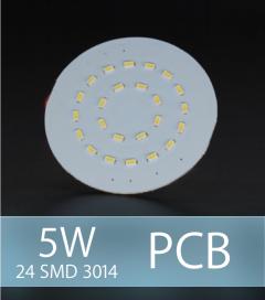 Scheda PCB 24 LED SMD 3014 - Bianco Freddo