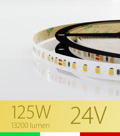 "Striscia LED 2835 ""PRO"" - 5 Metri - 125W - SMD2835 BIANCO CALDO 120 LED/m"