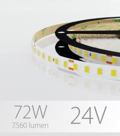 "Striscia LED 2835 ""ECO"" - 24V - 5 Metri - 72W -  120 LED/m SMD2835 - Bianco NATURALE 4000K"