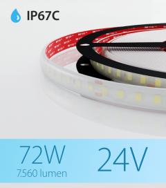 "Striscia LED 2835 ""ECO"" - 5 Metri - 72W - SMD2835 120 LED/m - Bianco FREDDO - 5000K - IP67C"