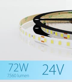 "Striscia LED 2835 ""ECO"" - 24V - 5 Metri - 72W -  120 LED/m SMD2835 - Bianco FREDDO 5000K"