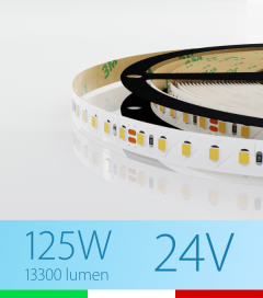 "Striscia LED 2835 ""PRO"" - 5 Metri - 125W - SMD2835 BIANCO FREDDO 120 LED/m"