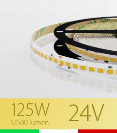 "Striscia LED ""AZIMUT"" - 5 Metri - 125W - SMD2835 SAMSUNG - 176 LED/m - CRI90 - Bianco CALDO 3000K"