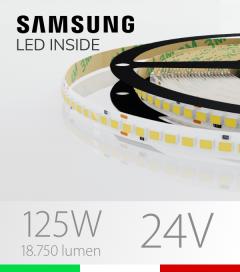 "Striscia LED ""AZIMUT"" - 5 Metri - 125W - SMD2835 SAMSUNG - 176 LED/m - CRI90 - Bianco NATURALE 4000K"