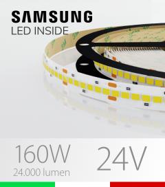 "Striscia LED 2835 ""HORIZON"" - 5 Metri - 160W -  210 LED/m SMD2835 Samsung - CRI90 - per Cornici Eleni"