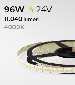 "Striscia LED 2835 ""ECO"" - 24V - 5 Metri - 96W - SMD2835 240LED/m - Bianco NATURALE - 4000K"