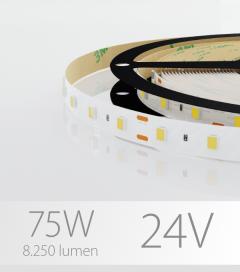 """Striscia LED 2835 """"PRO"""" - 5 Metri - 75W - SMD2835 - 60 LED/m - per Cornici Eleni"""