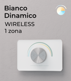 Controller Bianco Dinamico a Potenziometro da Parete Wireless - per strisce LED