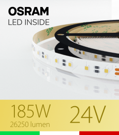 "Striscia LED 3030  ""ELITE"" - 5 Metri - 185W -  80 LED/m SMD3030 Osram - Bianco CALDO 3000K"