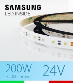 "Striscia LED 3030  ""ELITE"" - 5 Metri - 200W -  80 LED/m SMD3030 Samsung - Bianco FREDDO 5000K"