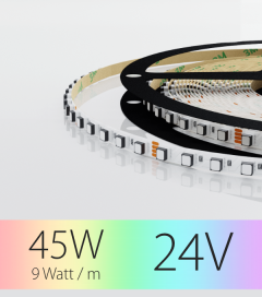 "Striscia LED RGB ""THIN"" - 5m x 5mm - 45W - 120 LED/m SMD3535"