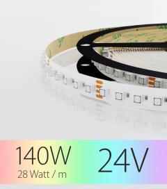"""Striscia LED RGB """"DYNAMIC RGB 600LED"""" - 5 Metri - 140W - 120 LED/m SMD3535 Epistar - per Cornici Eleni"""