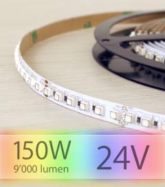"Striscia LED RGB ""DYNAMIC RGB 600LED"" - 5 Metri - 150W - 120 LED/m SMD3535 Epistar - RGB ULTRA FLUX - per Cornici Eleni"