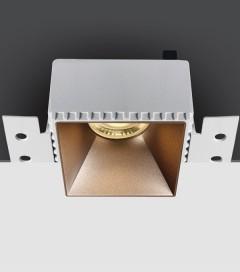 Corpo Faretto Quadrato da incasso con Attacco GU10 - Personalizzabile