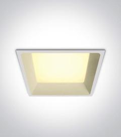 Faretto LED Quadrato da Incasso recesso Bianco - 22W - Bianco Caldo 3000K