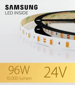 "Striscia LED 5630 ""PRO"" - 5 Metri - 96W - SMD5630 - SAMSUNG - 2700K LUCE CALDA  IP20"
