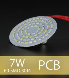 Scheda PCB 60 LED SMD 3014 - Bianco Caldo