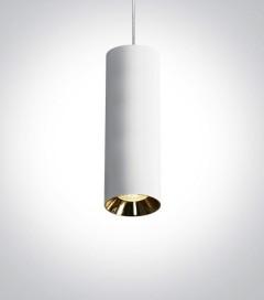 Faretto a Sospensione Linea Cilindro con attacco GU10 - Versione Mini - Colore Bianco