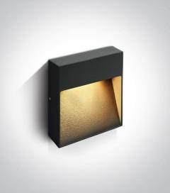 Lampada LED Segnapasso Small da esterno 9W - Antracite - Bianco Caldo - IP54