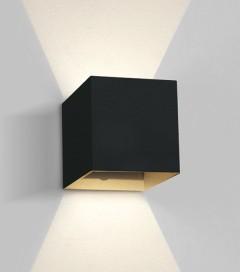 Lampada LED da esterno 6W - Nero - Bianco Caldo - IP54