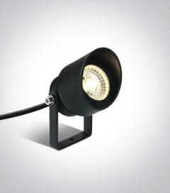 Faretto LED a Picchetto da esterno 5W - Antracite - Bianco Caldo - IP65