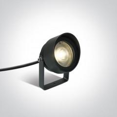 Faretto LED a Picchetto da esterno 11W - Antracite - Bianco Caldo - IP65