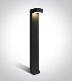 Lampione da Esterno - 6W - Antracite - Bianco Caldo