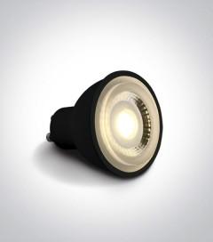 Faretto LED Nero GU10 6W - Bianco CALDO