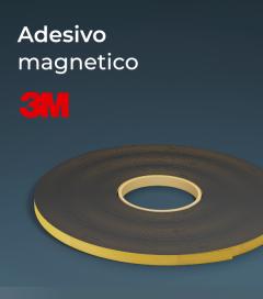 Adesivo Magnetico in Ferrite e Plastica Flessibile - Rotolo da 5 metri