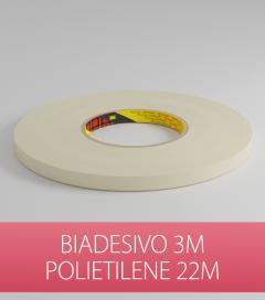 Biadesivo Polietilene 3M Acrilico Colore Bianco - Rotolo da 22m