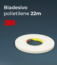 Biadesivo Polietilene 3M 9508W Acrilico Colore Bianco - Rotolo da 22m