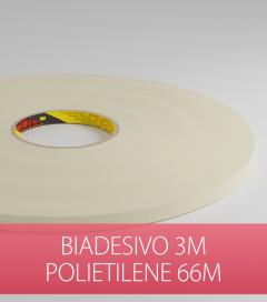 Biadesivo Polietilene 3M Acrilico Colore Bianco - Rotolo da 66m