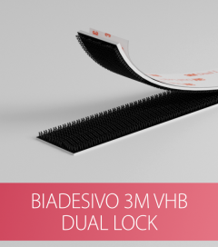 Adesivo 3M VHB Dual Lock per il fissaggio di Profili di Alluminio - 20cm
