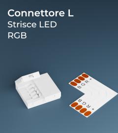 Connettore Angolare RGB con Clip in plastica