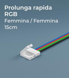 Prolunga Rapida RGB 15cm - Connettori Femmina-Femmina