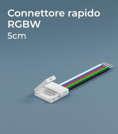 Connettore Rapido RGB 5cm Con clip in plastica