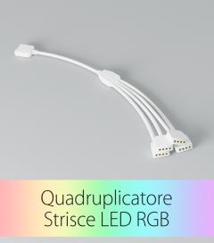 Quadruplicatore Cavo Rapido RGB - Connettori Femmina-Maschio