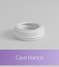 Cavo elettrico Piattina Bipolare al Metro - Colore Bianco