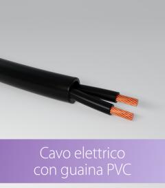 Cavo elettrico con Guaina PVC - Nero