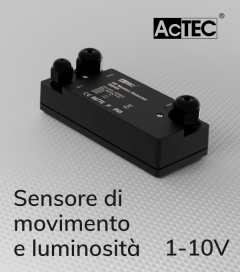 Sensore di Movimento e di Luminosità con Sistema di Controllo 1-10V - Resistente all'acqua IP67