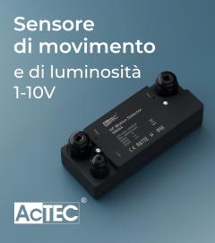 Sensore di Movimento e di Luminosità con Sistema di Controllo 1-10V - Resistente all'acqua IP67