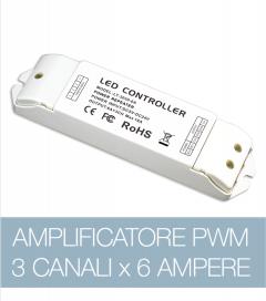 Amplificatore PWM 3Ch. x 6A  - strisce LED RGB