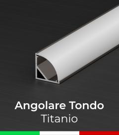 Profilo in alluminio angolare 45° Design Tondo per Strisce LED - Ossidato TITANIO